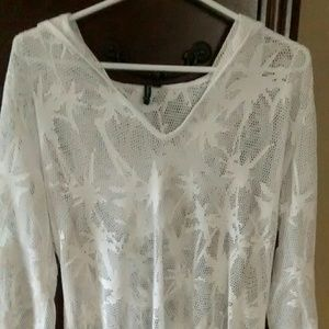 White Portocruz netted cover up